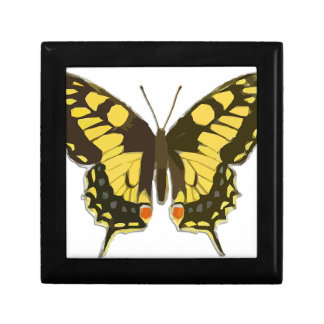 Yellow Butterfly Gift Box