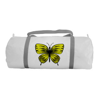 yellow butterfly gym bag
