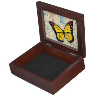 Yellow butterfly keepsake box
