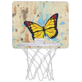Yellow butterfly mini basketball hoop