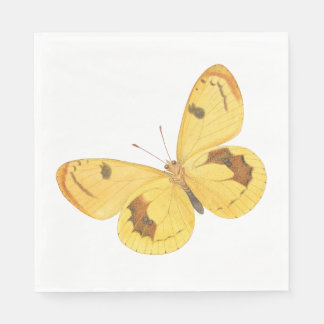 Yellow Butterfly - Paper Napkins