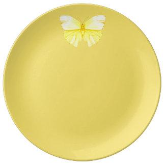 Yellow Butterfly Plate Ware De Jantar