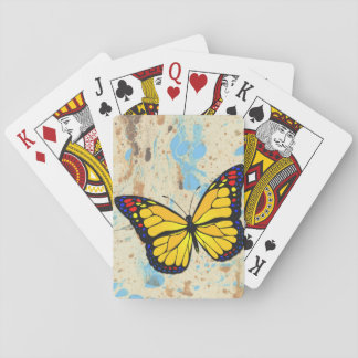 Yellow butterfly poker deck
