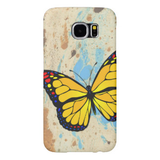 Yellow butterfly samsung galaxy s6 cases