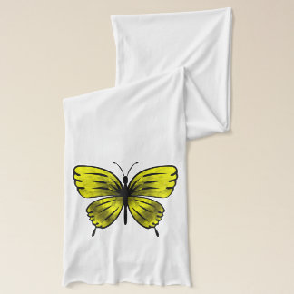 yellow butterfly scarf