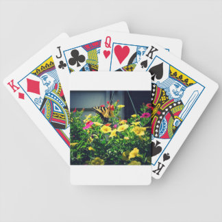 Yellow Butterfly with Flowers Photo Bicycle Playing Cards
