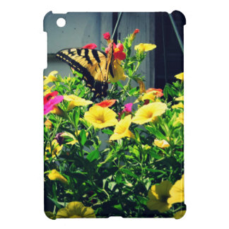 Yellow Butterfly with Flowers Photo iPad Mini Cover