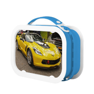 Yellow C7 z07 Package Chevrolet Corvette Lunch Box