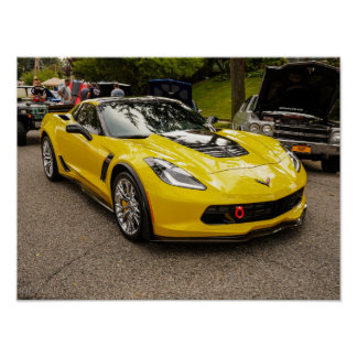 Yellow C7 z07 Package Chevrolet Corvette Poster