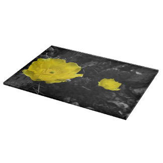 Yellow Cactus Bloom Cutting Board