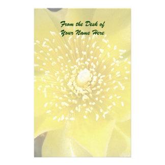 Yellow Cactus Flower Customized Stationery