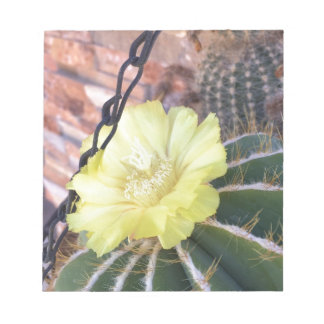 Yellow cactus flower notepad