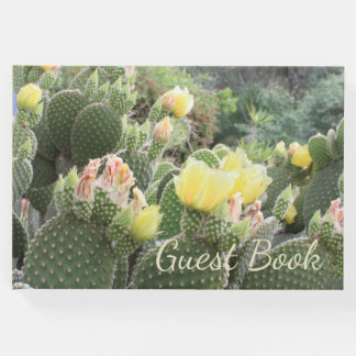 Yellow Cactus Flowers Guest Book