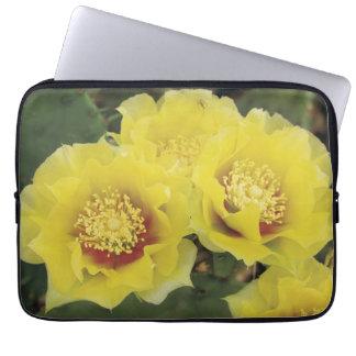 yellow cactus laptop sleeve
