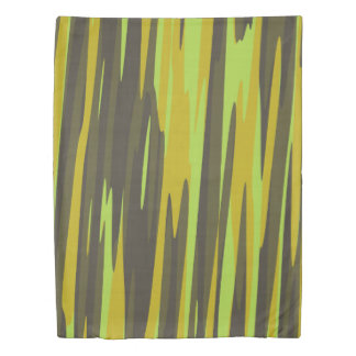 yellow camo abstract duvet cover