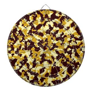 Yellow Camouflage Dartboard