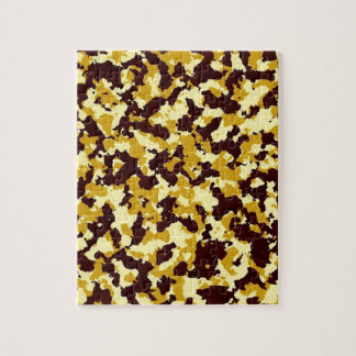 Yellow Camouflage Jigsaw Puzzle