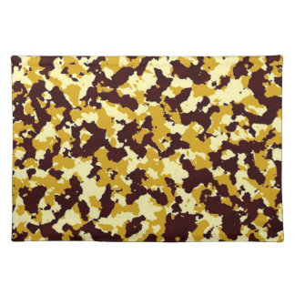 Yellow Camouflage Placemat