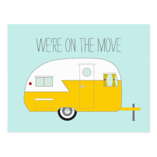 Yellow Camper Postcard