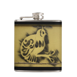 Yellow Canary Hip Flask