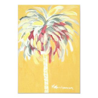 Yellow Canary Palm Tree Flat Card/ Invitation