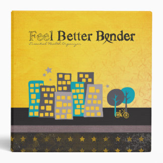 Yellow Cancer Feel Better Binder