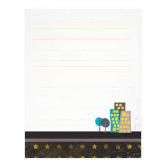 Yellow Cancer Feel Better Binder Lined Flyers