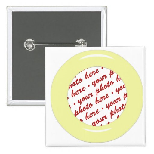 Yellow Candy Ring Photo Frame Template Pinback Buttons