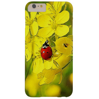 Yellow Canola Flower Good Luck Red Ladybug Barely There iPhone 6 Plus Case