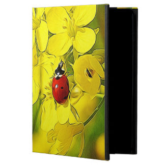 Yellow Canola Flower Good Luck Red Ladybug iPad Air Cover