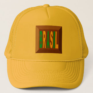 YELLOW   CAP   TRUCKER    BRASIL CHOCOLATE