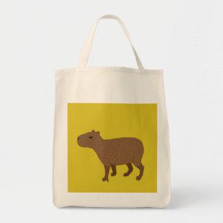 yellow capybara tote bag