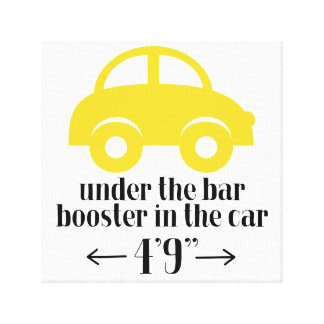 Yellow Car Wrapped Canvas Sign