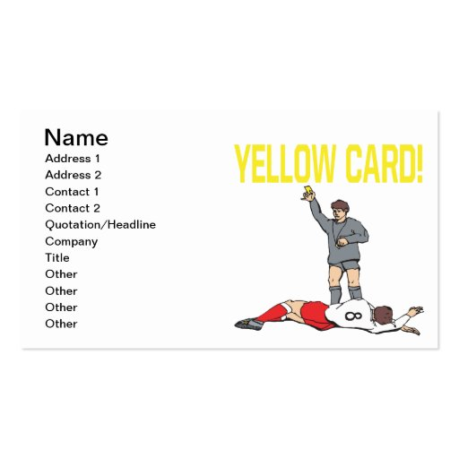 Yellow Card Business Cards