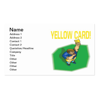 Yellow Card Pack Of Standard Business Cards