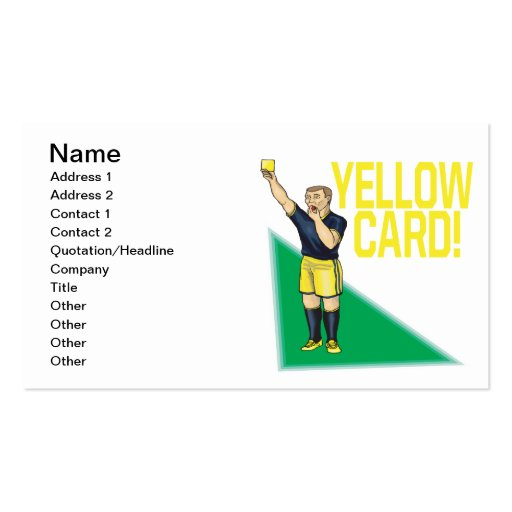 Yellow Card Business Card Templates