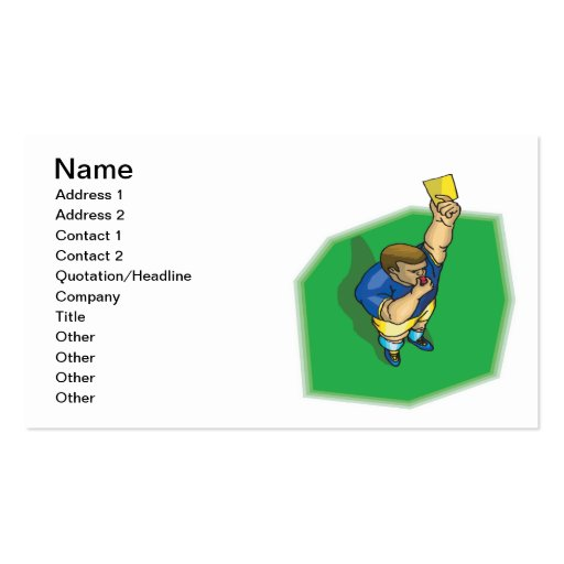 Yellow Card Business Card