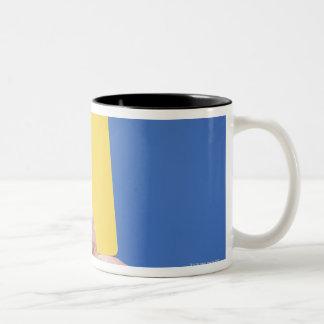 Yellow Card Two-Tone Coffee Mug