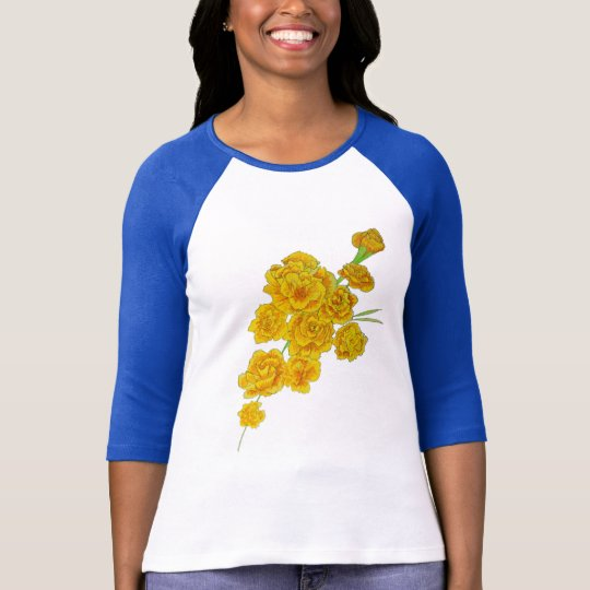 Yellow Carnation Women's long sleeve T-Shirt