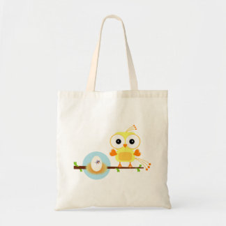 Yellow Cartoon Bird Gender Reveal Baby Shower Tote Bag