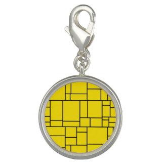 Yellow Cartoon Stone Tile Pattern Charm