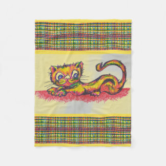 yellow cat blanket