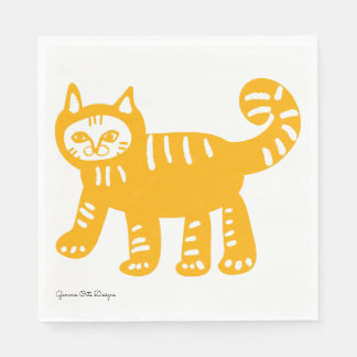 Yellow cat Collection paper napkin. Paper Napkin