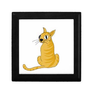 Yellow cat gift box