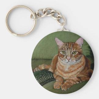 Yellow Cat Keychain