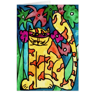Yellow Cat • Nick Abrams, Age 8  - card