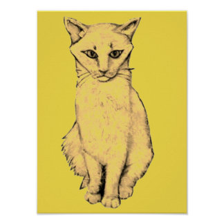 Yellow Cat Poster