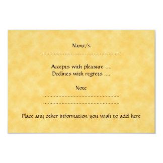 "Yellow Cat, Winking. Yellow Pattern Background. 3.5"" X 5"" Invitation Card"