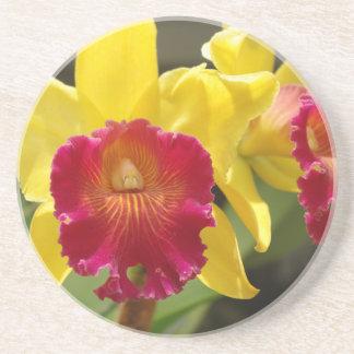 Yellow Cattleya Coaster