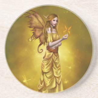 Yellow Celestial Fairy Coaster
